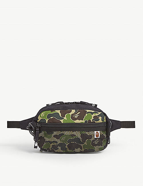 A BATHING APE Bungee-cord camouflage belt bag