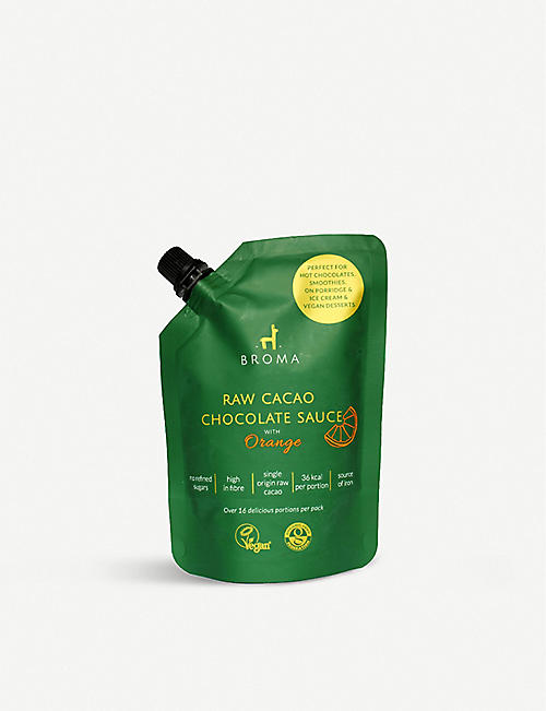 CONDIMENTS & PRESERVES: Broma vegan raw cacao orange chocolate sauce 250ml