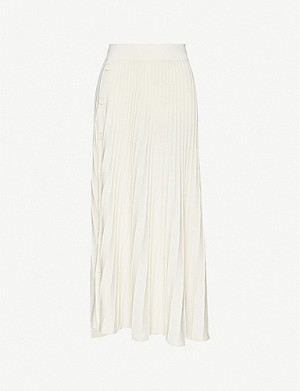 PINKO Boga pleated stretch-jersey midi skirt