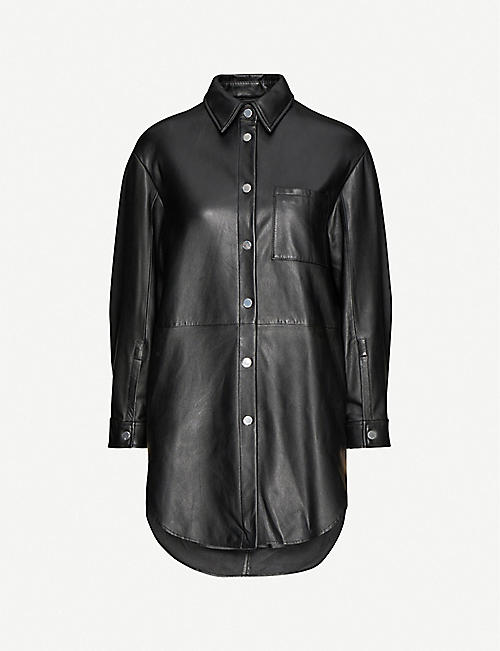 PINKO: Sedas leather shirt