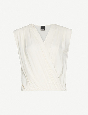 PINKO Inez V-neck chiffon body