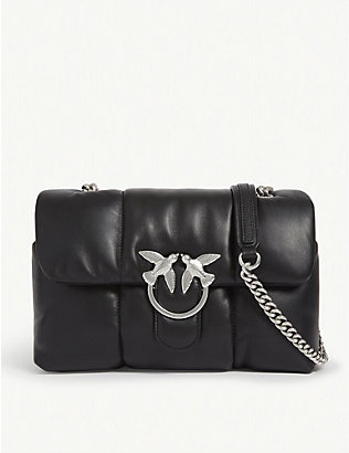 PINKO: Love quilted leather shoulder bag