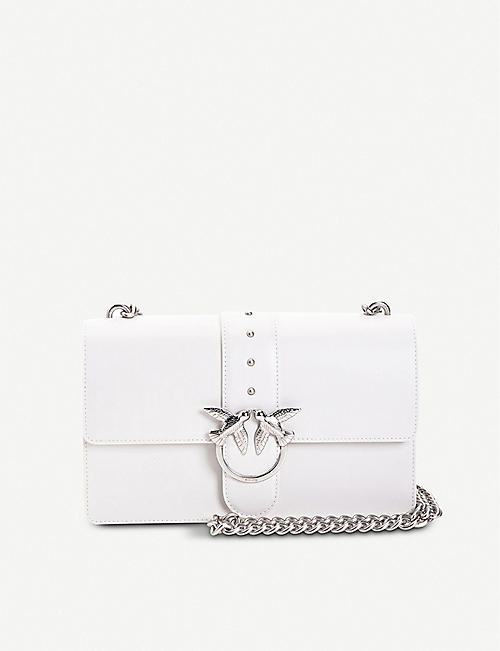 PINKO: Love Simply leather shoulder bag