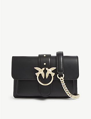 PINKO: Baby Love leather shoulder bag