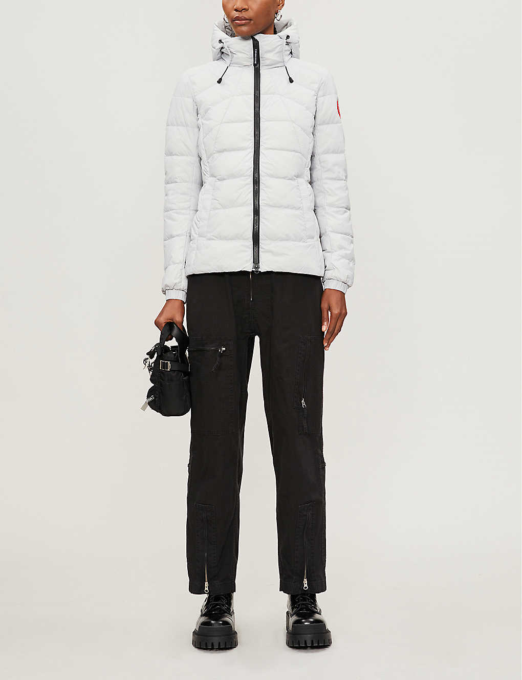 CANADA GOOSE: Abbot shell-down hooded jacket