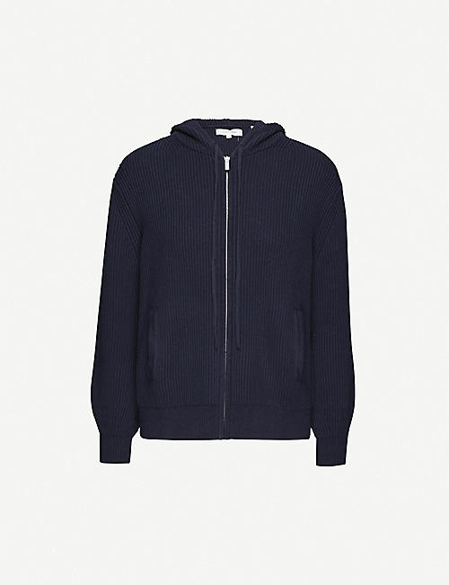 CHINTI AND PARKER Ribbed cotton and cashmere-blend hoody