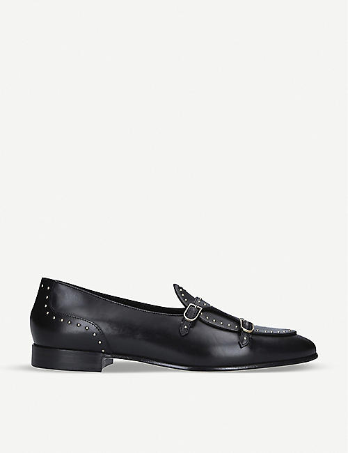 EDHEN MILANO: Brera gold-studded leather loafers