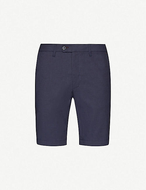 TED BAKER: Corto straight relaxed-fit stretch-woven shorts