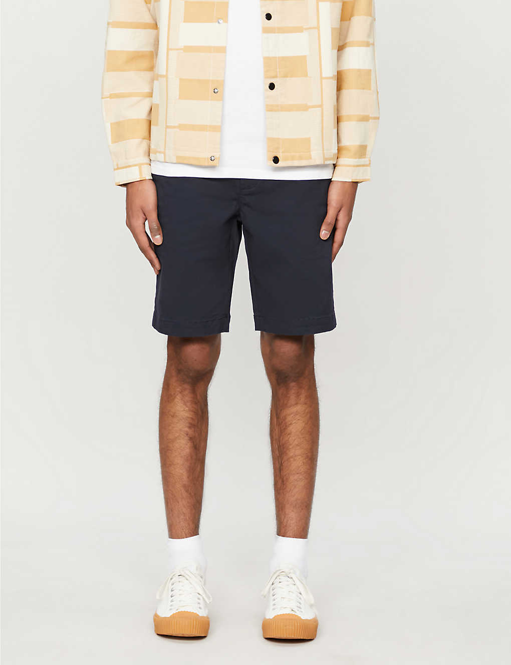 TED BAKER: Core relaxed-fit cotton-blend shorts