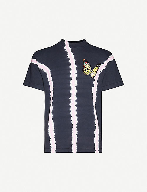 PALM ANGELS Butterfly-print cotton-jersey T-shirt