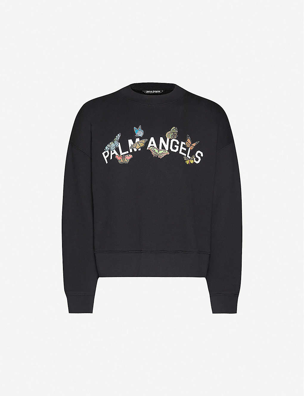 PALM ANGELS: Butterfly-print cotton-jersey sweatshirt