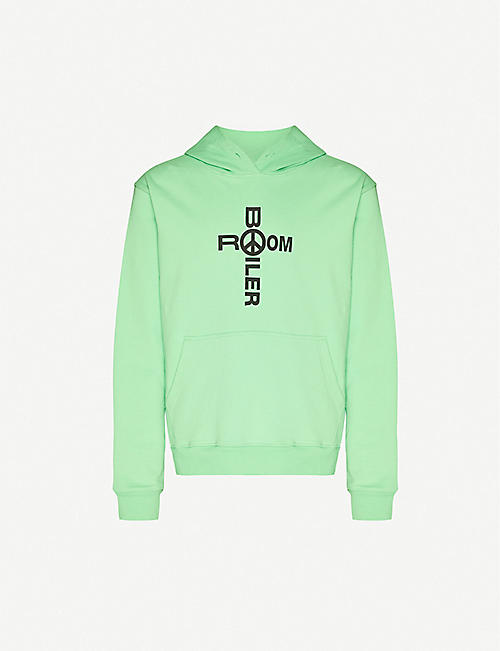 BOILER ROOM: Holy branded cotton-jersey hoody
