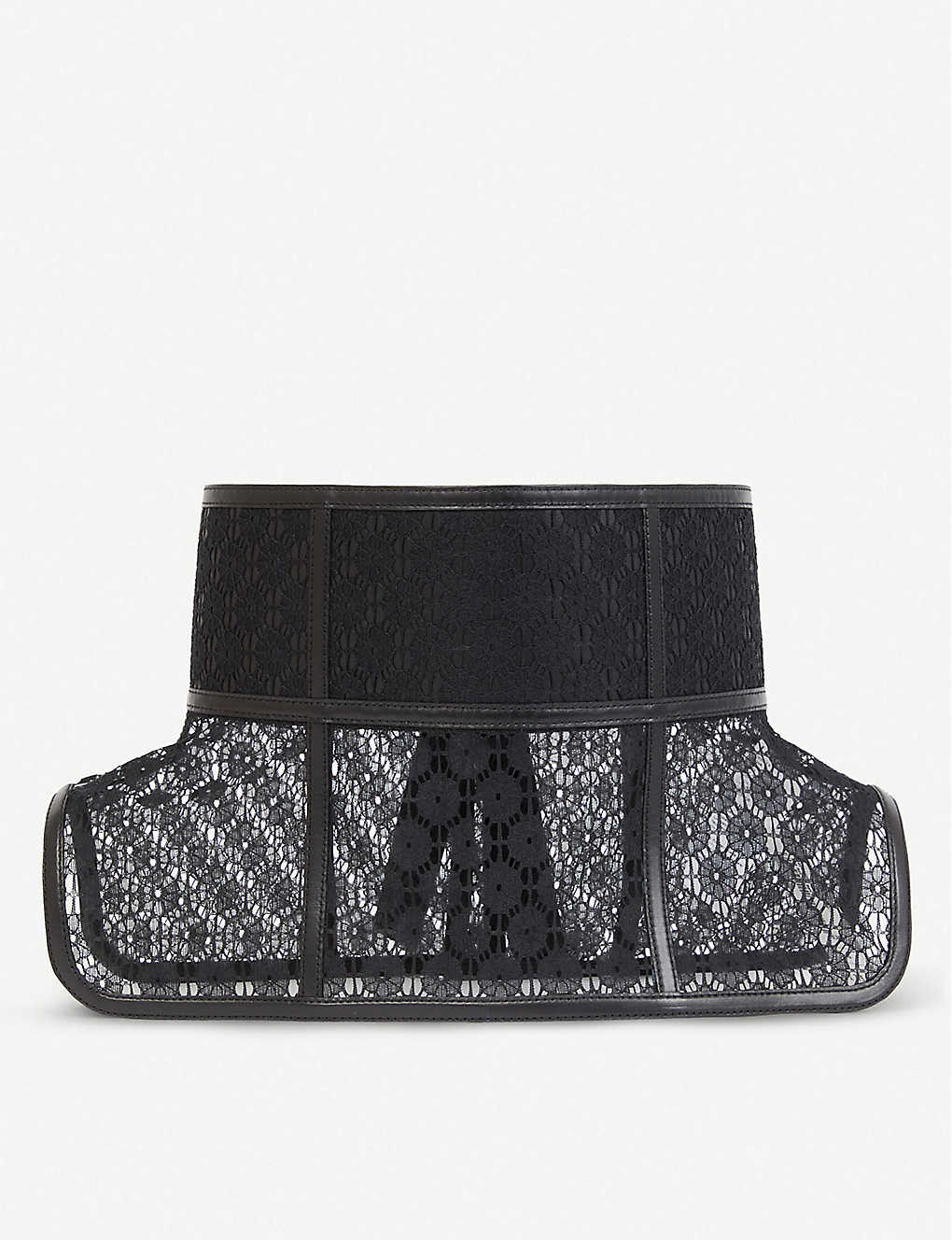 LOEWE: Obi wide lace and leather belt