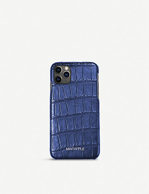 MINTAPPLE: Alligator-embossed leather iPhone 11 Pro Max case