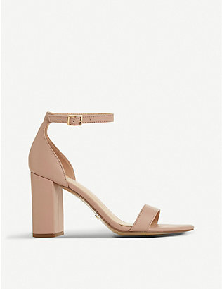 DUNE: Madam leather heeled sandals