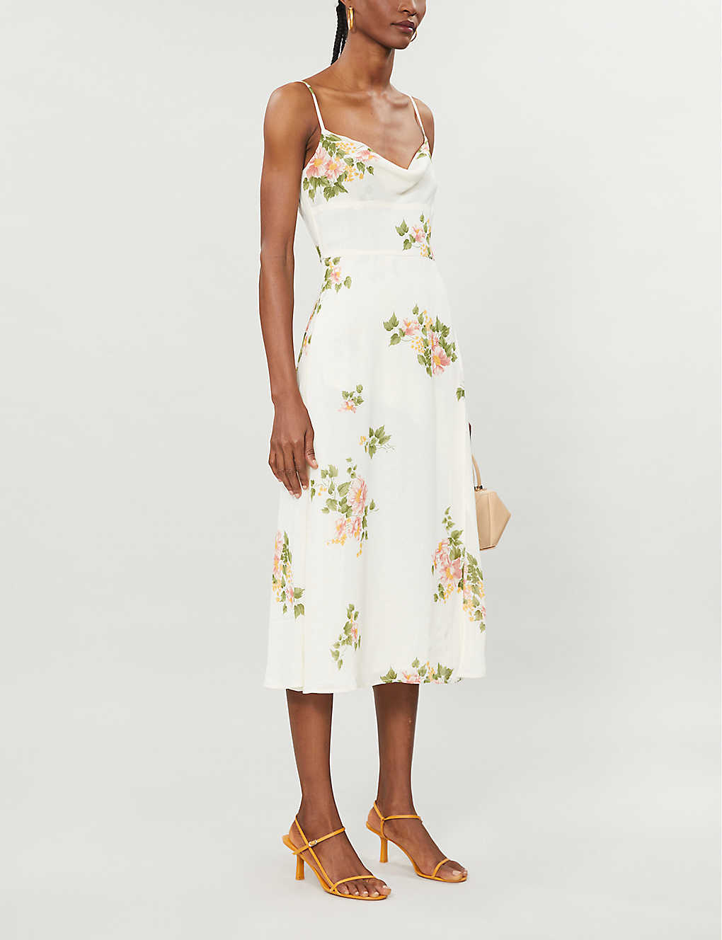 REFORMATION: Gala floral-print crepe midi dress