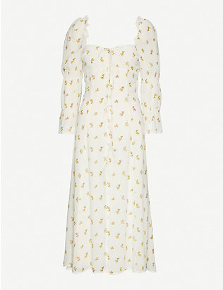 REFORMATION: Roberta floral-print crepe midi dress