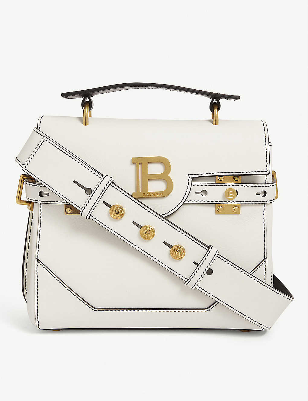 BALMAIN: B-Buzz 23 leather tote bag