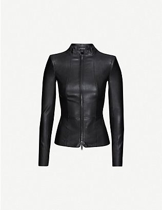 JITROIS: Gattaca high-neck leather jacket