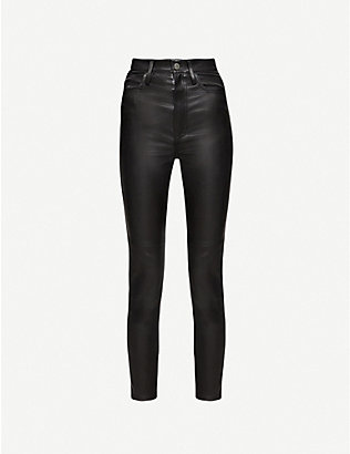 JITROIS: Skinny high-rise leather trousers