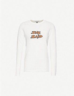 BELLA FREUD: She Said cotton-blend jumper