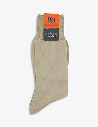 DORE DORE: Diamond-knit stretch-cotton socks