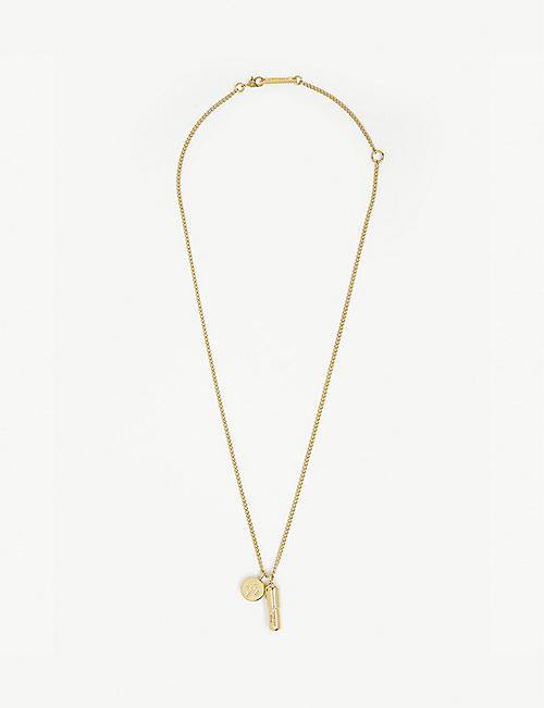 AMBUSH Gold-plated silver pill charm necklace