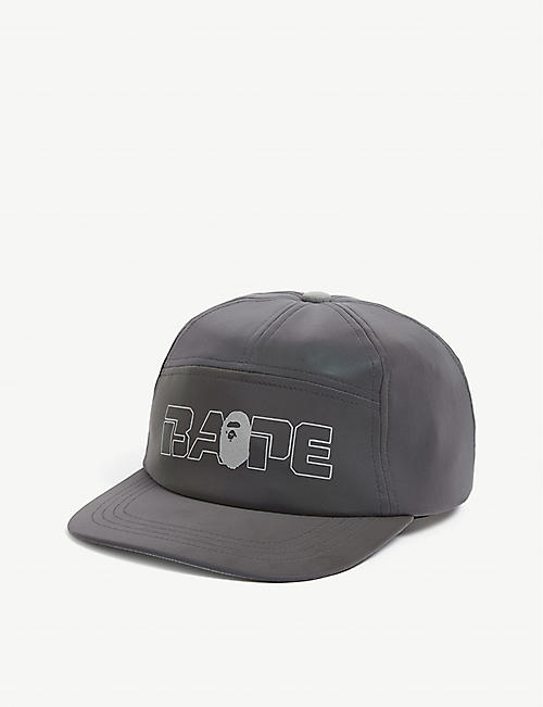 A BATHING APE: Reflection logo baseball cap