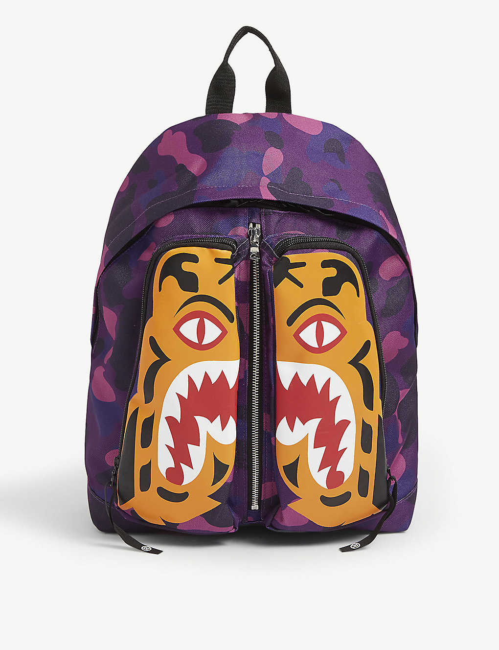 A BATHING APE: Tiger Camo canvas backpack