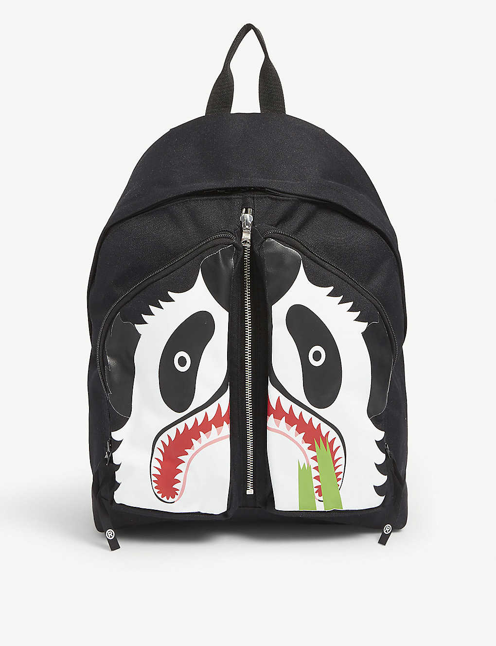 A BATHING APE: Panda Day canvas backpack