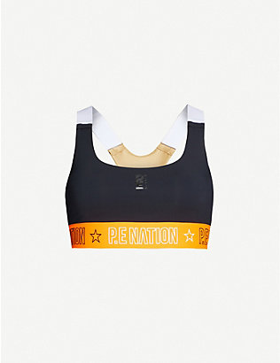 P.E NATION: Full Court stretch-jersey sports bra