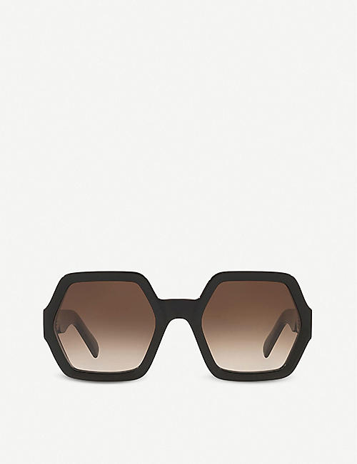 CELINE: CL40131I octagon acetate sunglasses