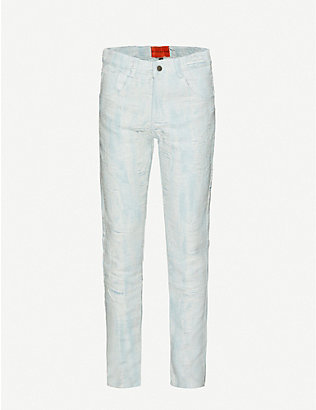 WHO DECIDES WAR BY EV BRAVADO: Distressed straight jeans