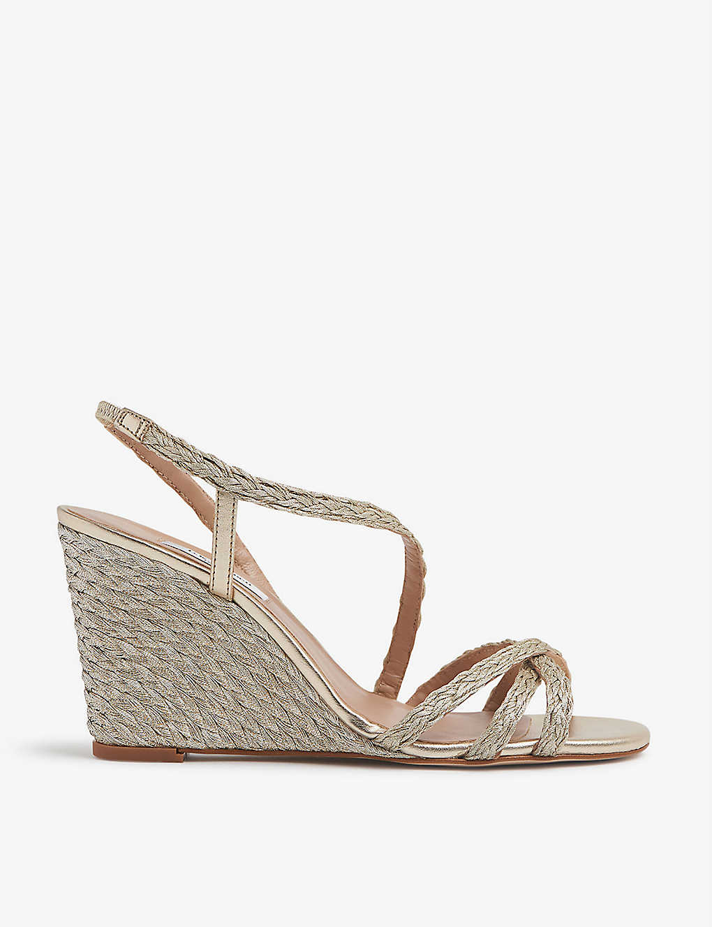 LK BENNETT: Shiela woven-rope wedge sandals