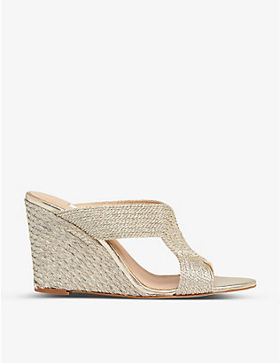 LK BENNETT: Sonia rope wedge sandals