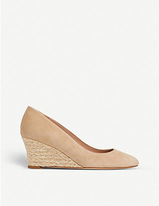 LK BENNETT: Eevi leather wedge court shoes