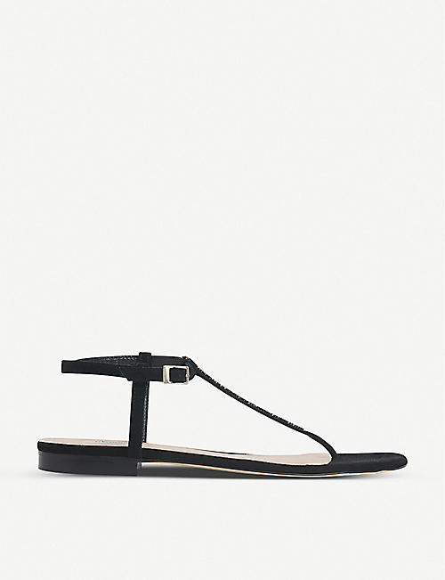 LK BENNETT: Roxy embellished leather sandals