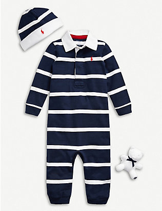 RALPH LAUREN: Rugby 3-piece gift box set 3-12 months
