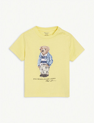 RALPH LAUREN Polo Bear-print cotton T-shirt 3-24 months
