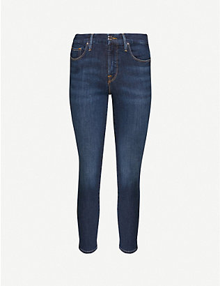 GOOD AMERICAN: Good Petite Skinny cropped mid-rise jeans