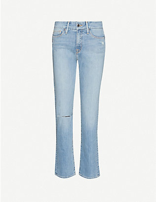 GOOD AMERICAN: Good Straight distressed high-rise jeans
