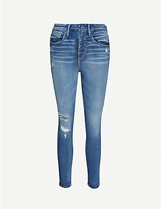 GOOD AMERICAN: Good Legs Crop skinny high-rise stretch-denim jeans