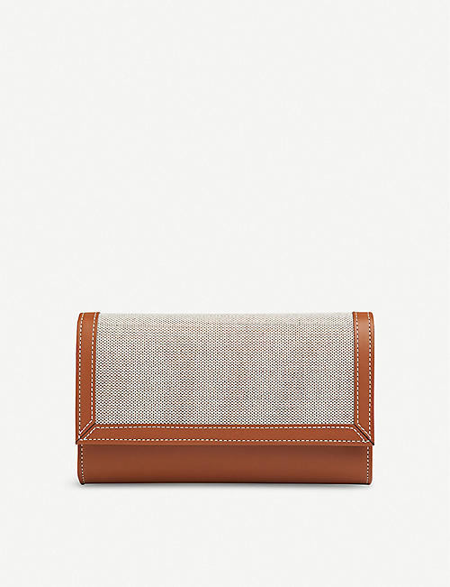 LK BENNETT: Dayana cotton and linen clutch