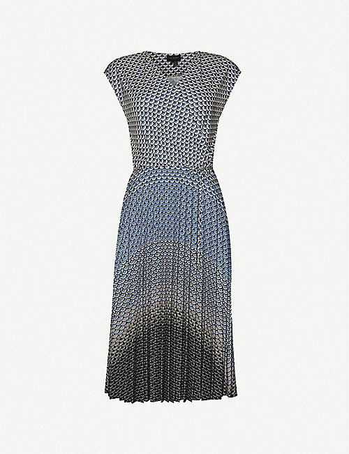 TED BAKER Masquerade stretch-woven midi dress