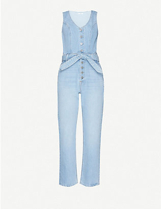 GRLFRND: Amaya denim jumpsuit