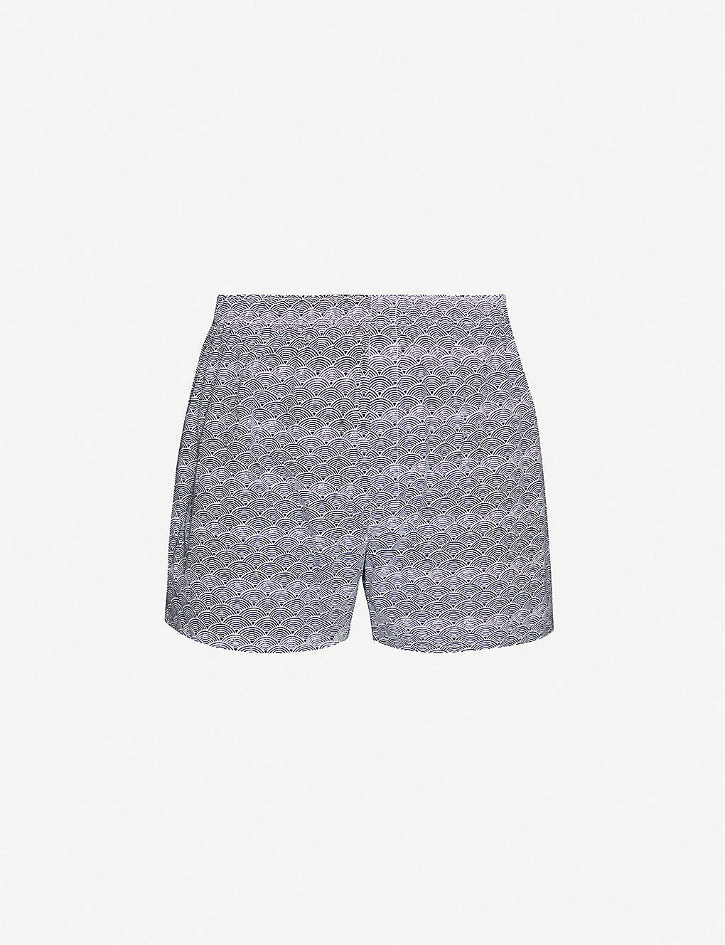 SUNSPEL: Graphic-print slim-fit cotton-jersey boxer shorts