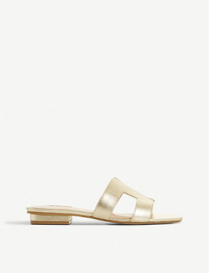 DUNE Loupe metallic-leather sandals