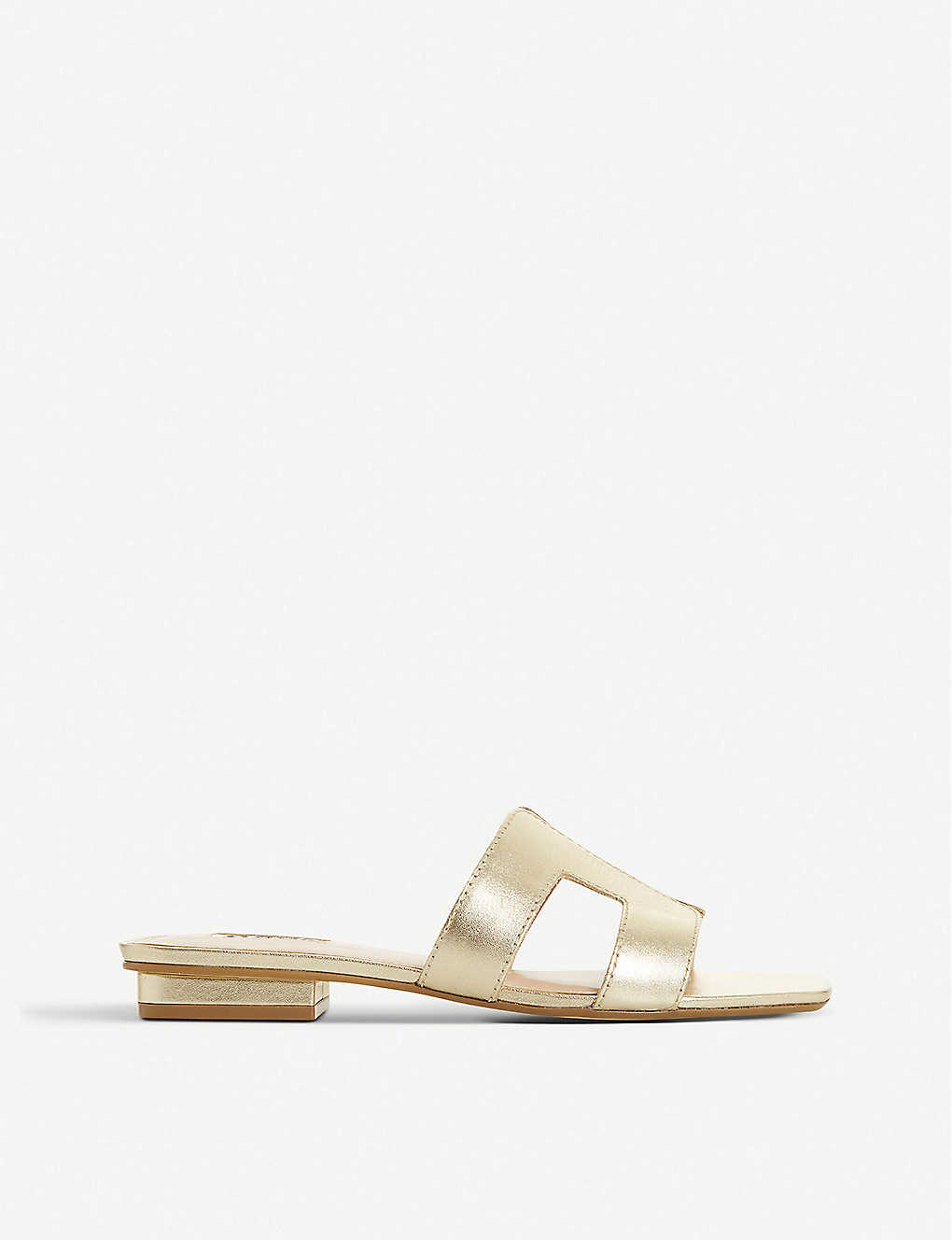 DUNE: Loupe metallic-leather sandals