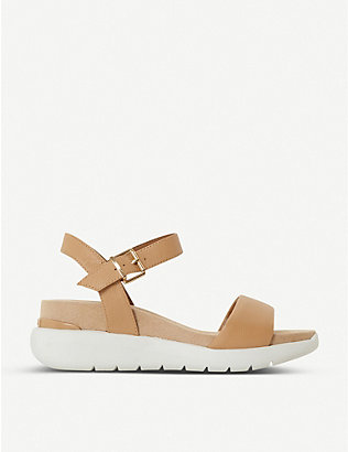 DUNE: Kyoto leather flatform sandals
