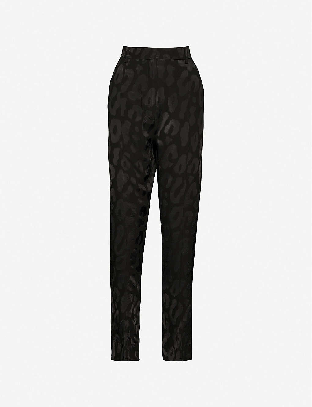 ANINE BING: Tate leopard-print high-rise woven trousers